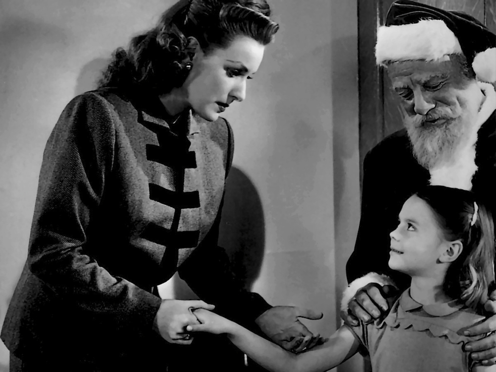 with Edmund Gwenn and Natalie Wood in Miracle on 34th Street (1947)