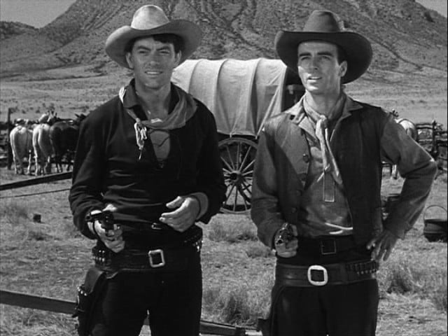 John Ireland and Montgomery Clift