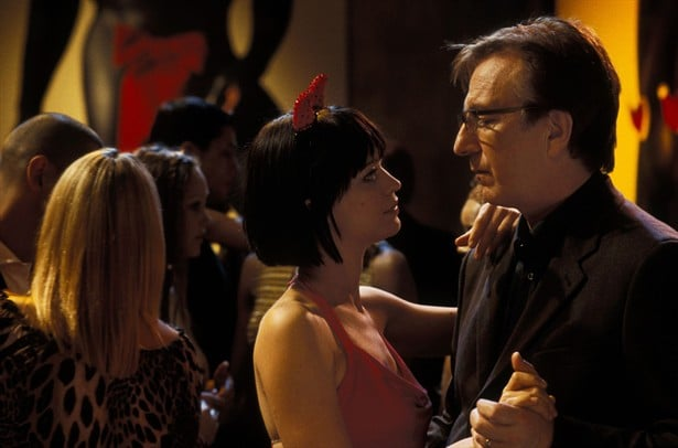 with Heike Makatsch in Love Actually (2003)