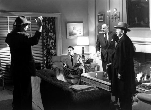 (From the left) Sterling Hayden, Brad Dexter, Louis Calhern, Sam Jaffe