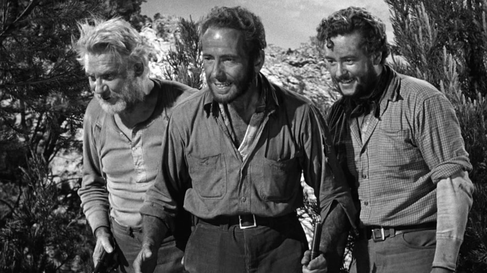 Walter Huston, Humphrey Bogart, Tim Holt