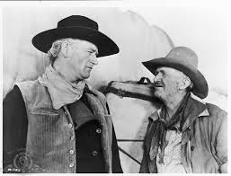John Wayne and Walter Brennan in  Red River