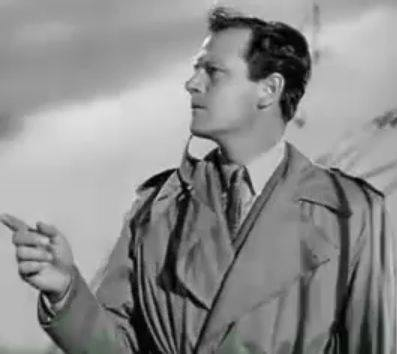 Joel McCrea as John Jones in Foreign Correspondent (1940) whistles the theme music composed by Alfred Newman.