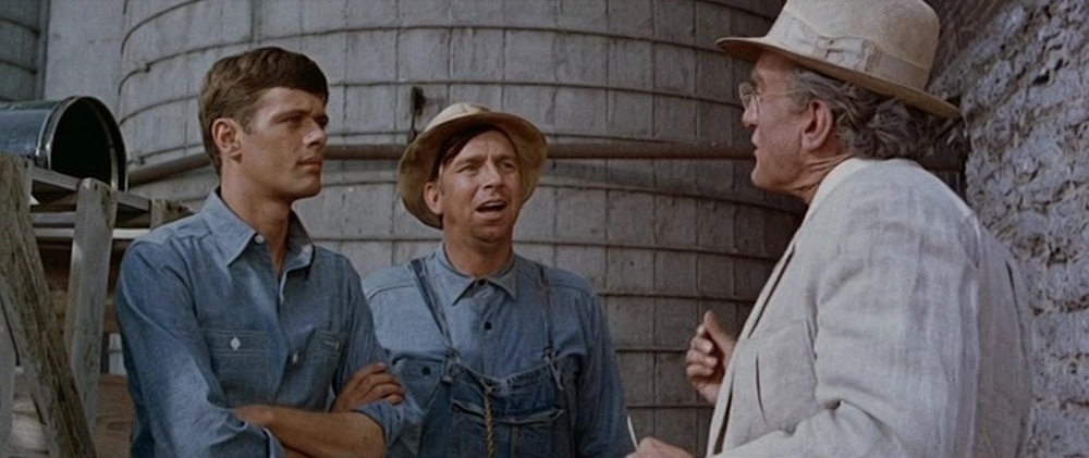 (From left): Michael Sarrazin, Slim Pickens, George C. Scott
