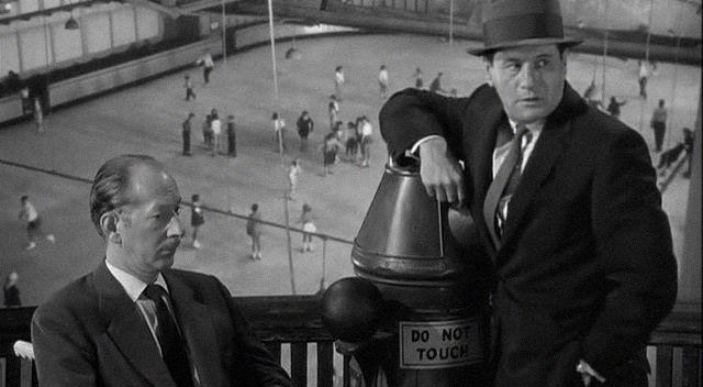 (At left) Vaughn Taylor, Eli Wallach