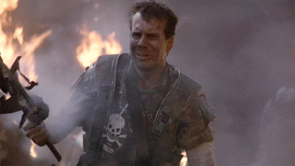 Bill Paxton as Private Hudson in Aliens (1986)