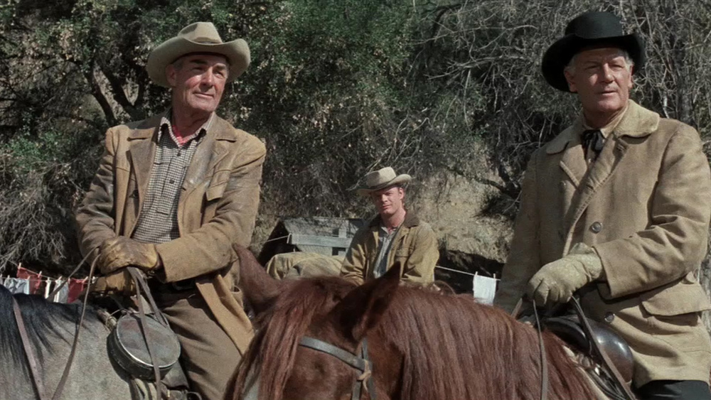 (From left) Randolph Scott, Ron Starr, Joel McCrea