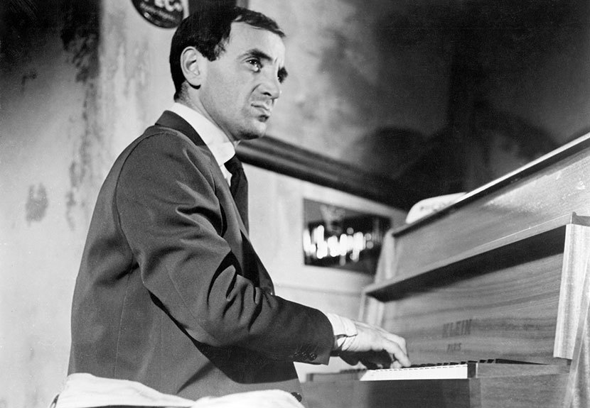 Charles Aznavour as Charlie Kohler / Edouard Saroyan in  Shoot the Piano Player