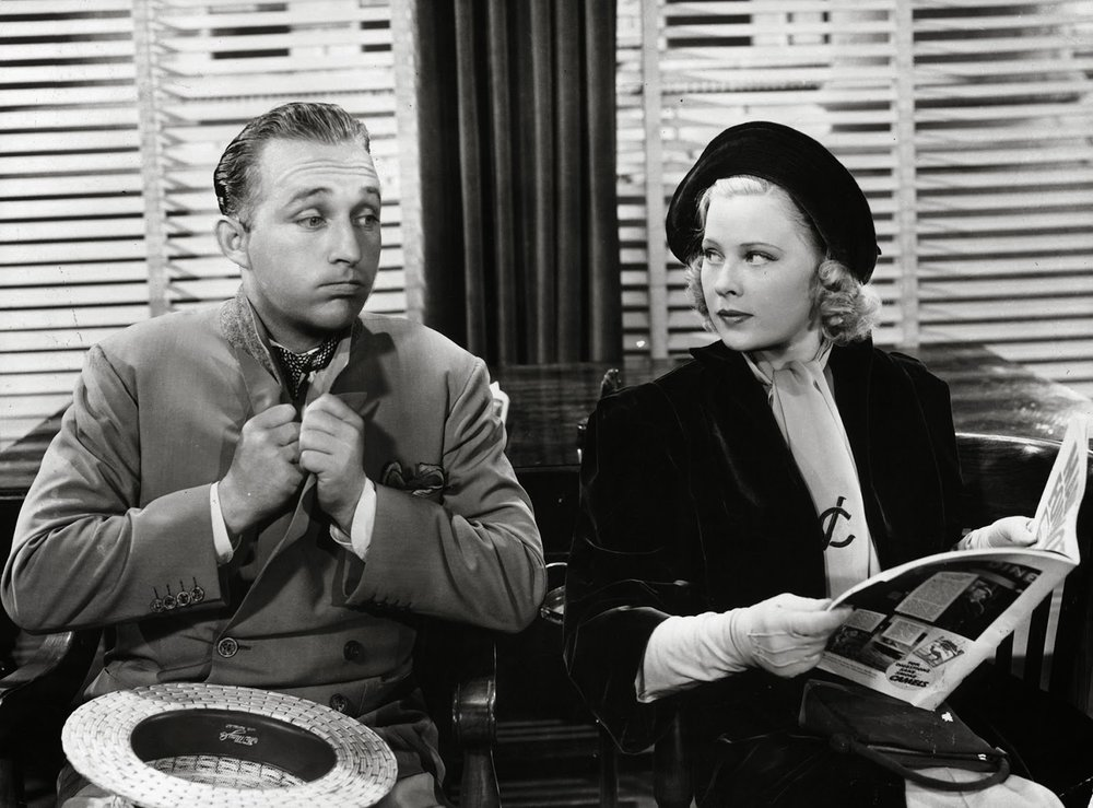 Mary Carlisle as Vicki Clark with Bing Crosby as 'Lefty' Boylan in  Double or Nothing