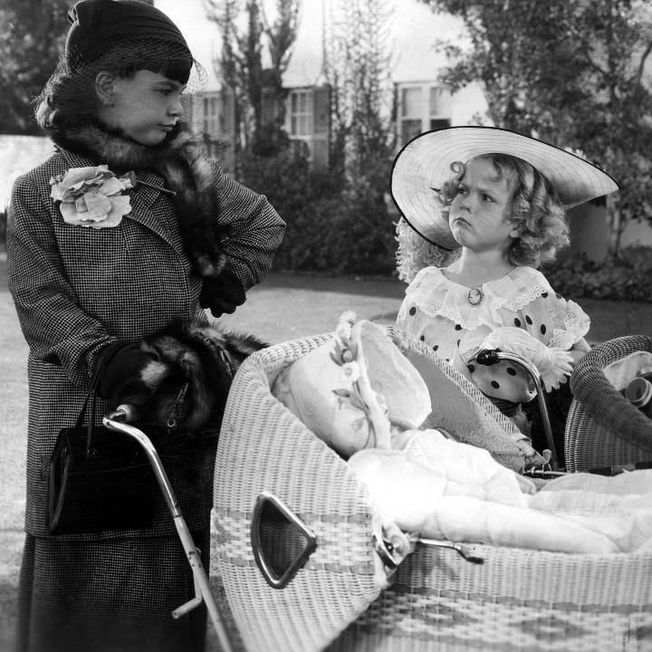 Jane Withers as Joy Smythe with Shirley Temple as Shirley Blake in  Bright Eyes