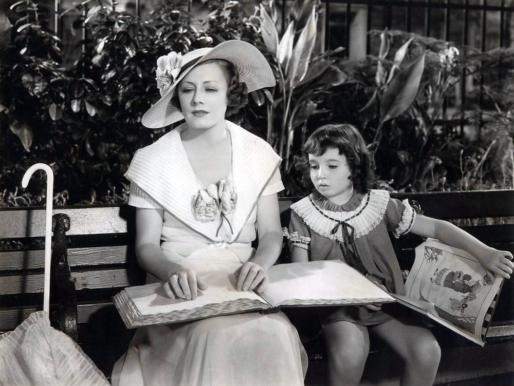 Cora Sue Collins as Ruth (at right) with Irene Dunne as Helen Hudson in  Magnificent Obsession