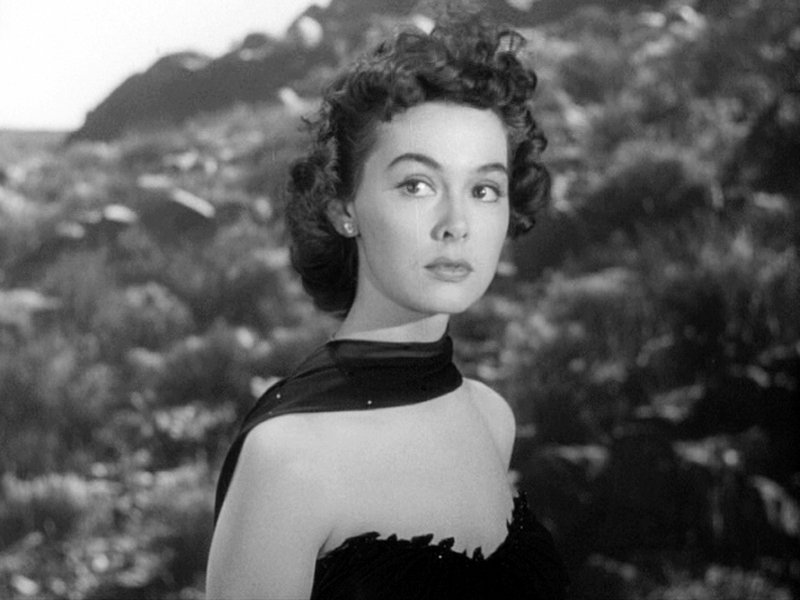 Barbara Rush as Ellen Fields in  It Came from Outer Space