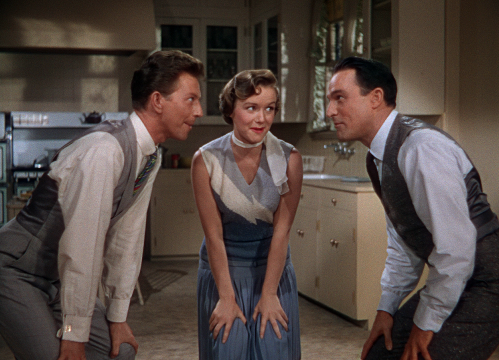 (From left) Donald O'Connor, Debbie Reynolds, Gene Kelly
