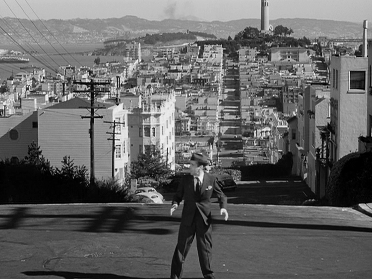 That's San Francisco's Coit Tower on top of the hill behind Bogart