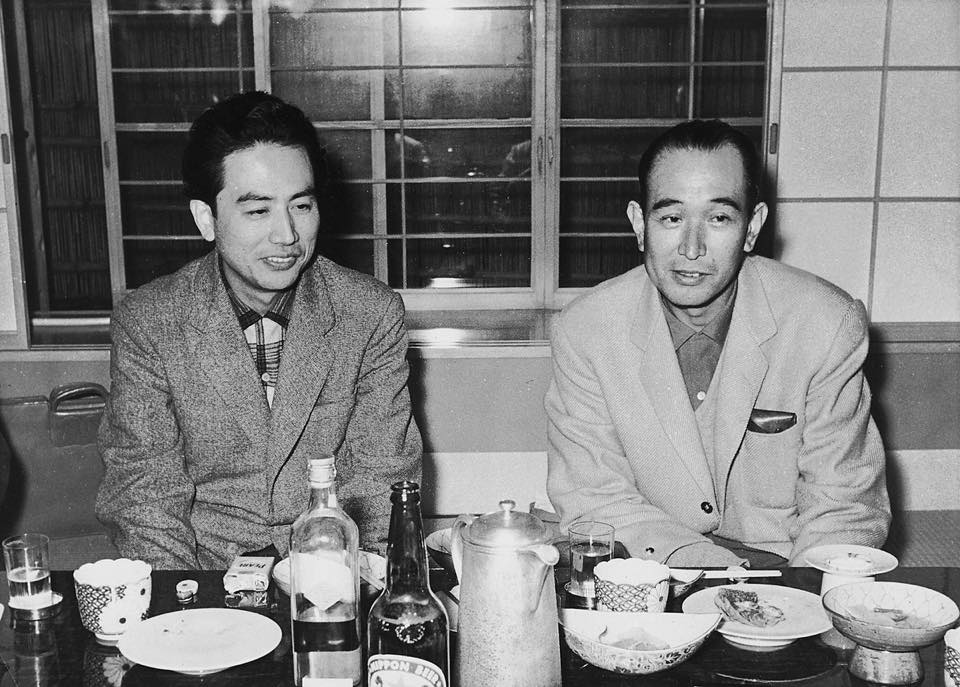 (From left)Shinobu Hashimoto, Akira Kurosawa