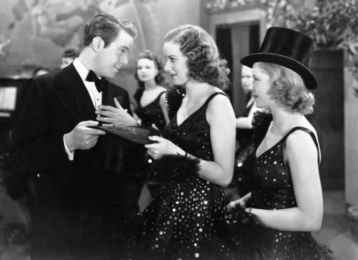 Louis Hayward, Maureen O'Hara, and Mary Carlisle in DANCE, GIRL, DANCE
