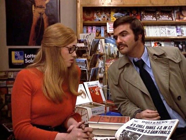 Kay Frye and Burt Reynolds in SHAMUS