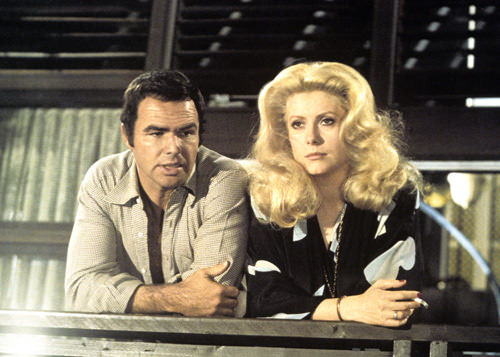Burt Reynolds and Catherine Deneuve in HUSTLE
