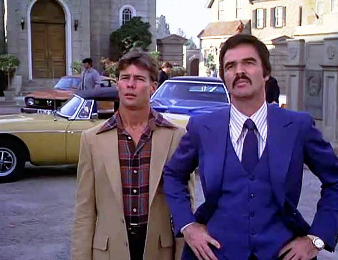 Jan Michael-Vincent and Burt Reynolds in HOOPER