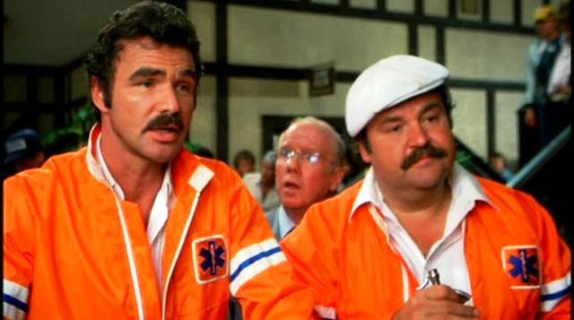 Burt Reynolds, John Fiedler, and Dom DeLuise in THE CANNONBALL RUN