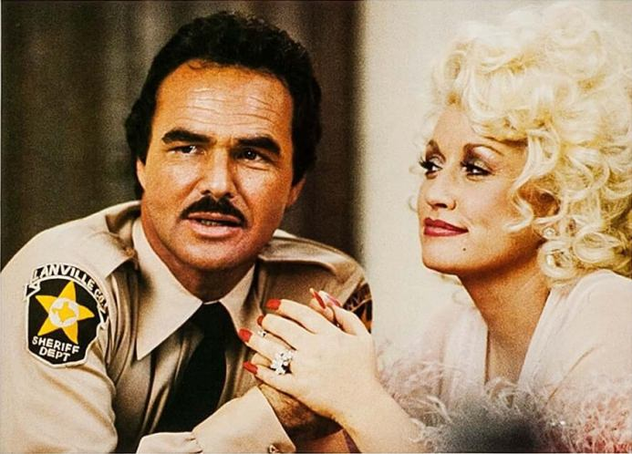 Burt Reynolds and Dolly Parton in THE BEST LITTLE WHOREHOUSE IN TEXAS