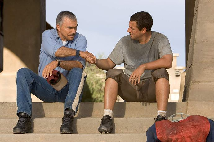 Burt Reynolds and Adam Sandler in THE LONGEST YARD (2005)