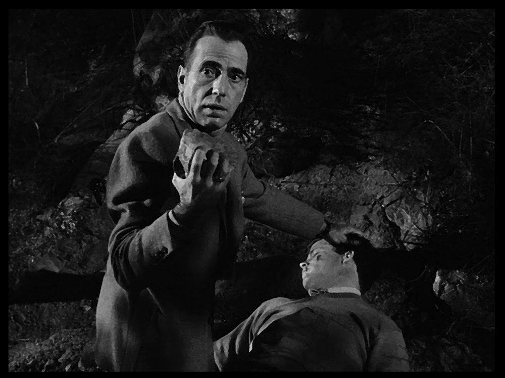 (From left) Humphrey Bogart, Don Hamin