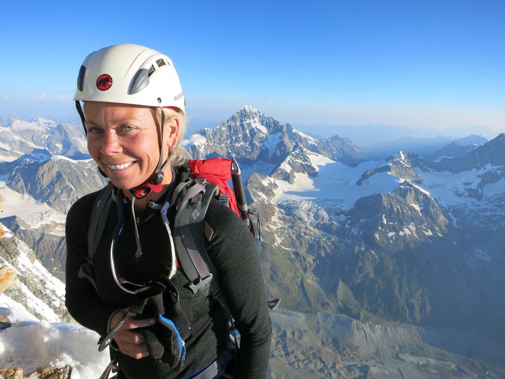 Heidi on the Summit of the Matterhorn