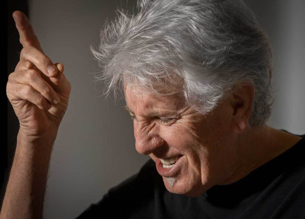 "Sir Graham Nash listens to Jerry Lee Lewis - ""Great Balls of Fire""                               1/2"