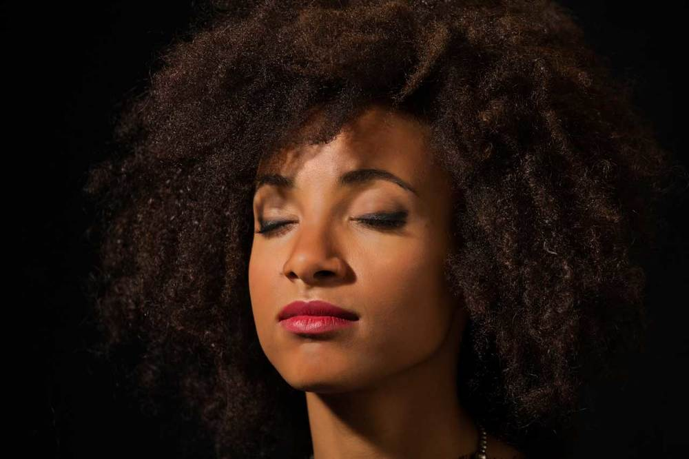 "Esperanza Spalding listens to Nina Simone - ""Lilac Wine from Wild is the Wind""                     1/2"