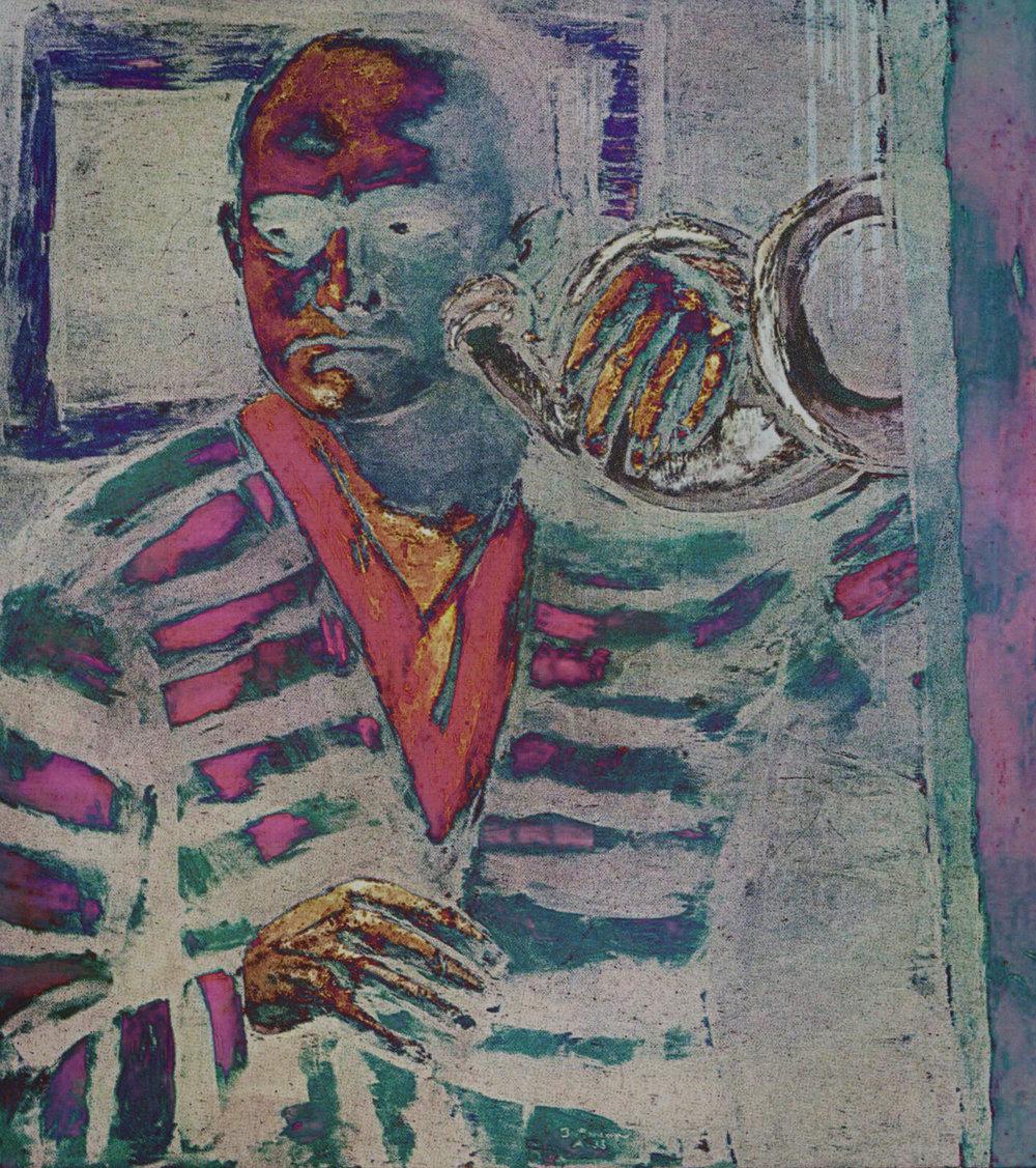 Beckmann, Max(Self-portrait with Horn, 1938-1940)