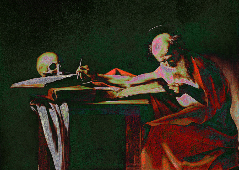 Caravaggio (Saint Jerome Writing, 1606)