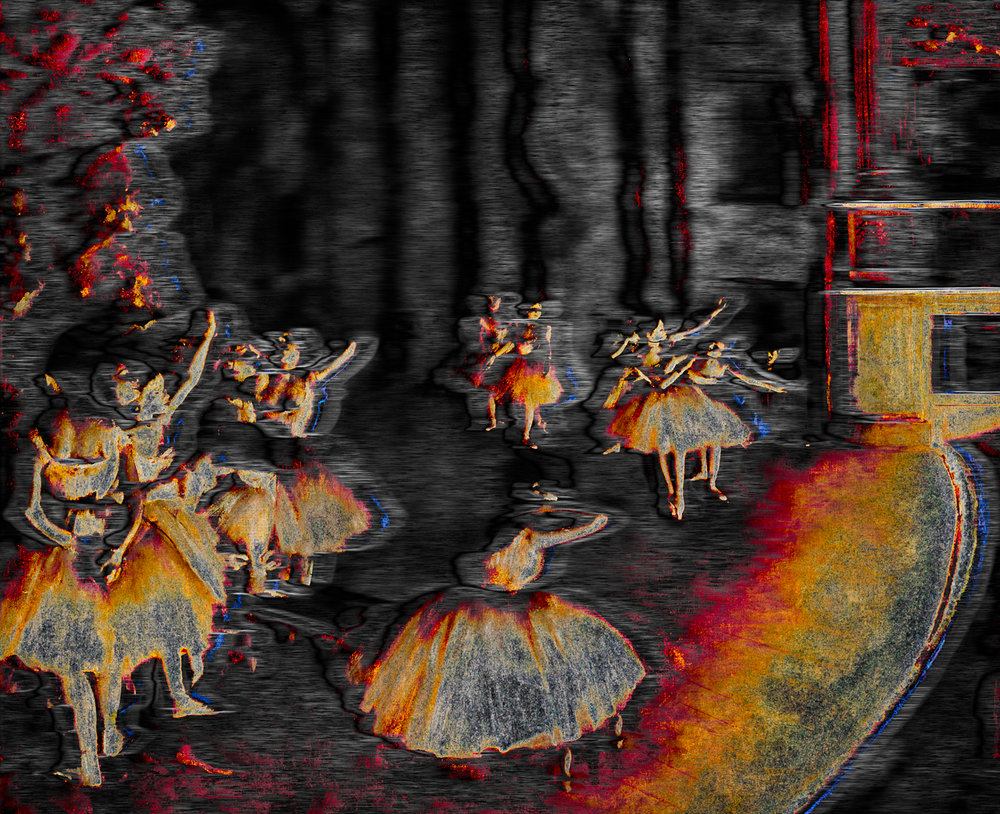 Degas, Edgar (Ballet Rehearsal On Stage, 1874)