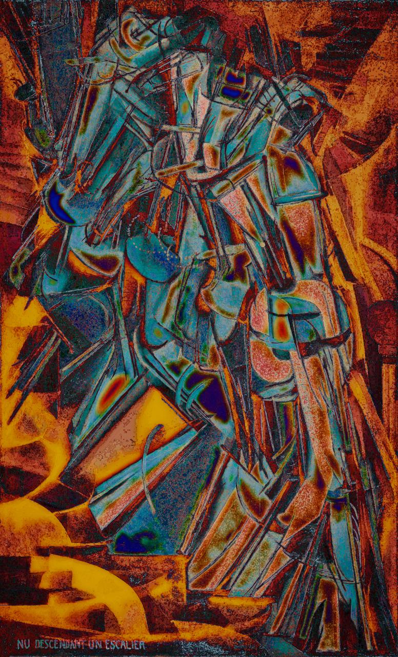 Duchamp (Nude Descending a Staircase, No.2 1912)