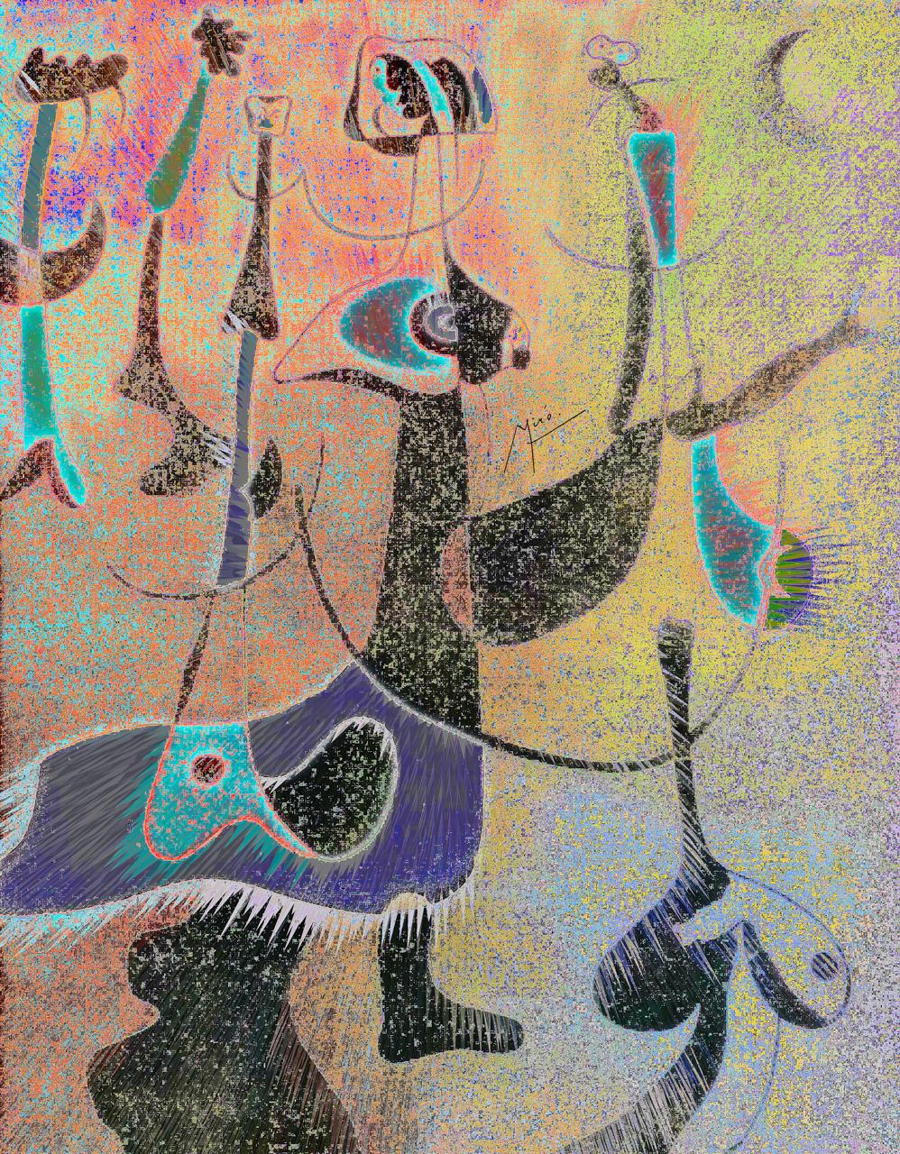 Miró, Joan (Personnages Rythmiques, 1934)