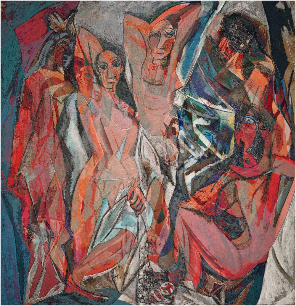 Picasso, Pablo (Les Demoiselles d'Avignon 1907)