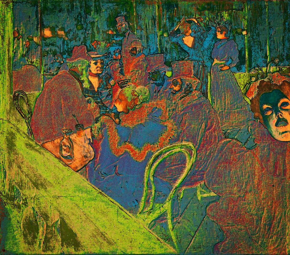 Toulouse-Lautrec, Henri de (At The Moulin Rouge, 1895)