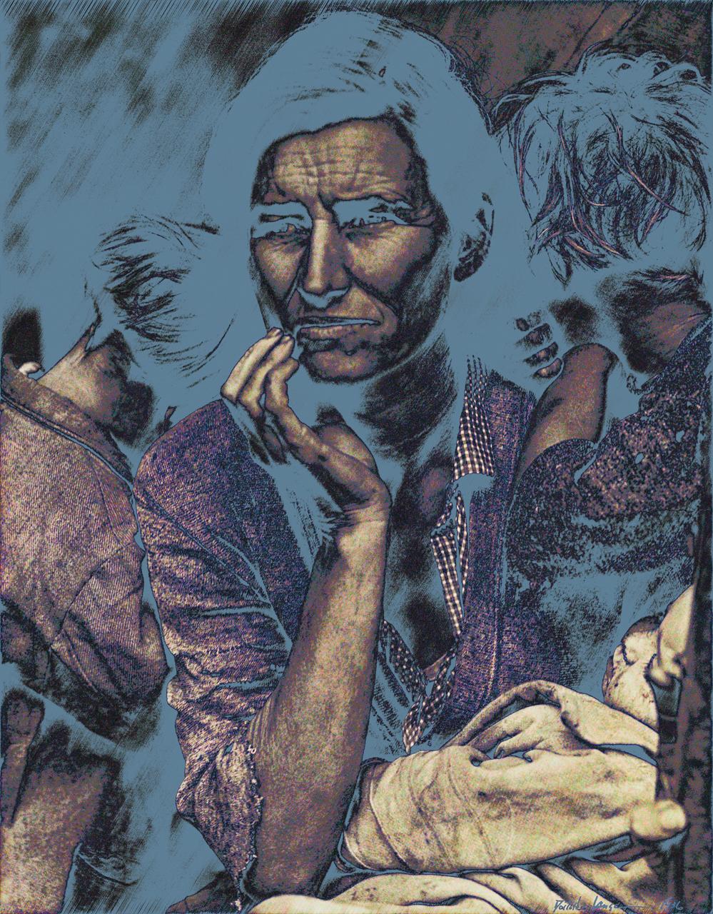 Lange, Dorothy (Migrant Mother 1936) B