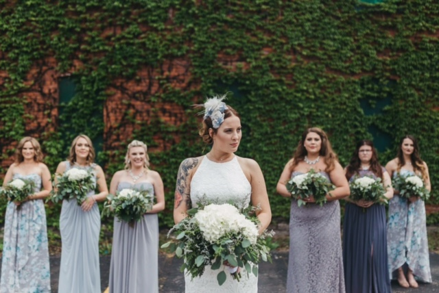 Bride and bridal party styled by AR Stylists. Photo used with permission by Apricity Photography. Buffalo, NY.