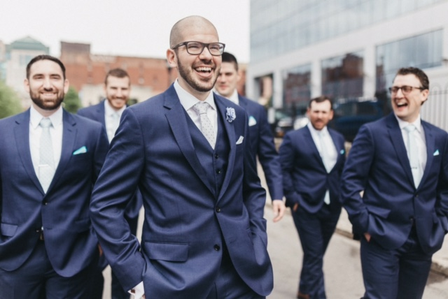 Groom and groomsmen styled by AR Stylists. Photo used with permission by Apricity Photography. Buffalo, NY.