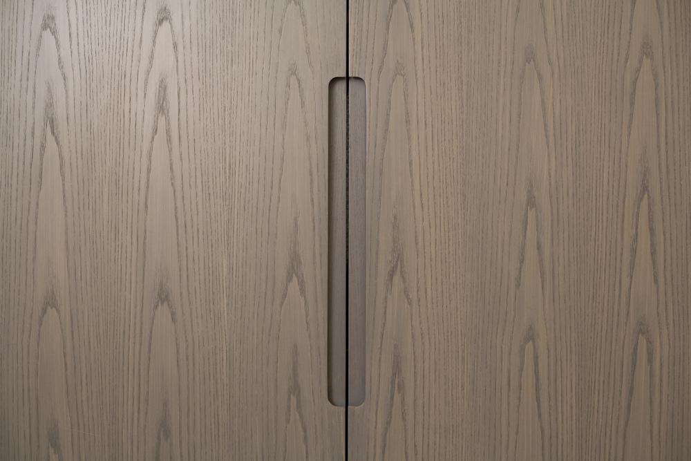 Closet Door Detail at Tudor City Apartment