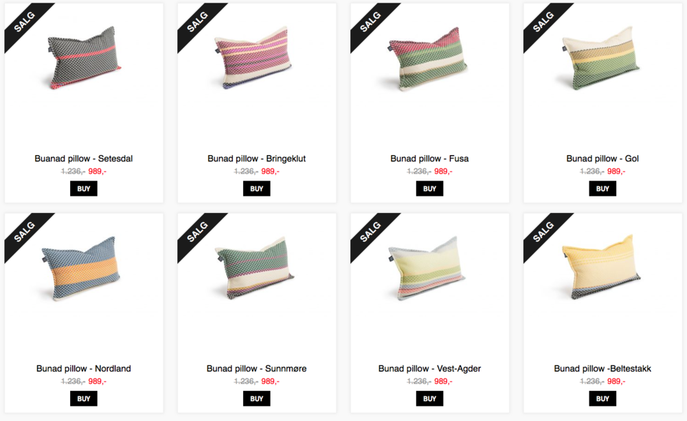 PILLOWS FROM FRAM OSLO -