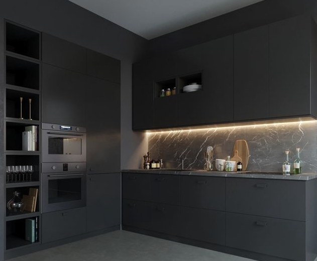 BLACK KITCHEN EXAMPLE -