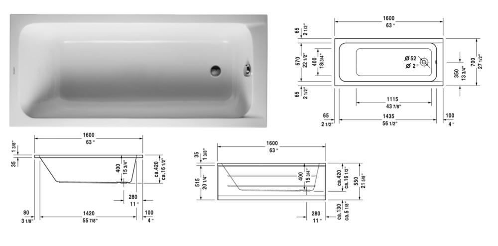 Duravit D-Code Tub