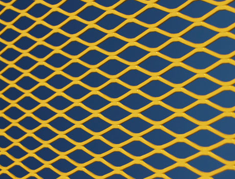 CLOSE UP OF EXTRUDED METAL MESH