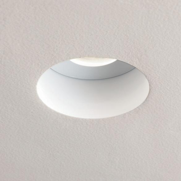 Closeup of trim-less recessed light. -