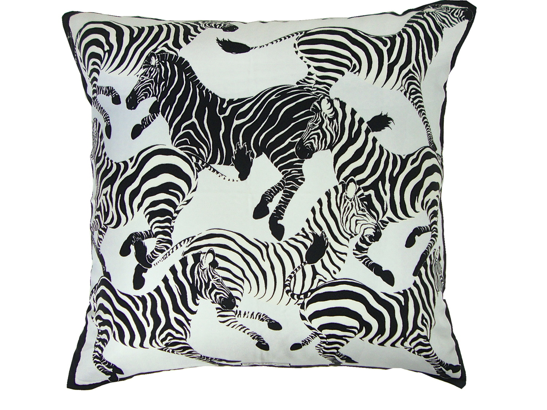 Ferragamo Zebra Pillow 24x24 Tracy Smith New York Sofa Pillows