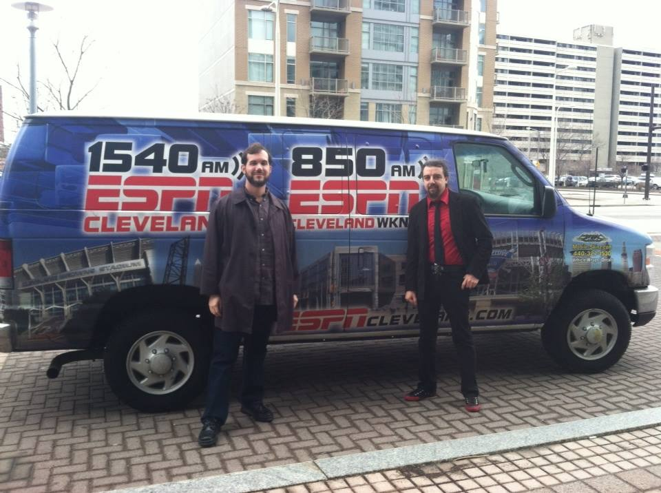 "John Torrani and Flynn Hundhausen on ESPN Cleveland radio talking about ""Back Issues: The Hustler Magazine Story""."