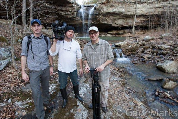 Gary with WGN crew.jpg