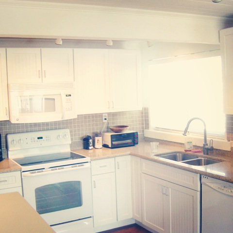 Newly-renovated kitchen.